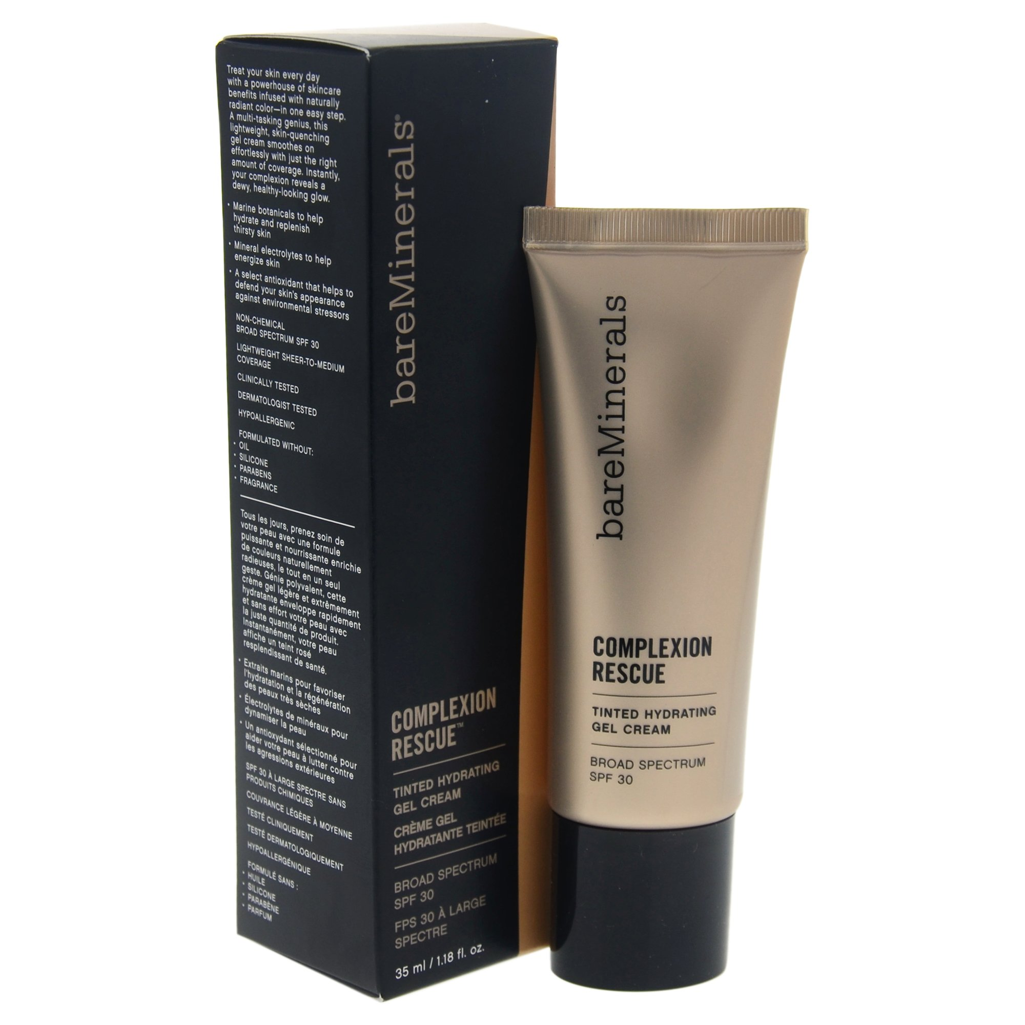 Bareminerals Complexion Rescue Tinted Hydrating Gel Votre Peau Facial Sun Shield Spf 50 30ml Cream 30 Natural 05 118 Ounce Beauty
