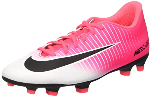 84802a6899dc70 Nike Men s Mercurial Vortex III FG Racer Pink Black White Football Shoes (6  UK