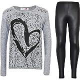 Kids Girls HEART Printed Trendy Top & Stylish...