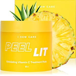 I DEW CARE Peel Lit | Exfoliating Vitamin C Treatment Pads | Korean Skincare, Vegan, Cruelty-free, Gluten-free, Paraben-free