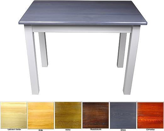 Magnetic Mobel Esstisch Kuchentisch Tisch Massiv Kiefer Speisetisch In Versch Grossen 60x70 Grau Blau Amazon De Kuche Haushalt