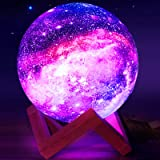 Moon Lamp,Eguled 5.9 inches Star Night Light for Kids Galaxy 16 Colors LED Moon Light with Stand Remote Touch Control…