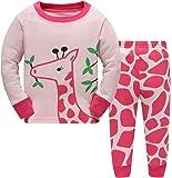Hugbug Toddler Girls Pretty Giraffe Pajama Set 2-7T