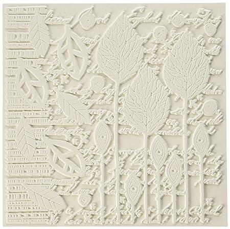 per lastre in Gel per monotipo Fiori Astratti Multi-Colored taglia unica Carabelle Studios Timbro Texture Rettangolare in Gomma della Gamma Art Printing di Carabelle Studio