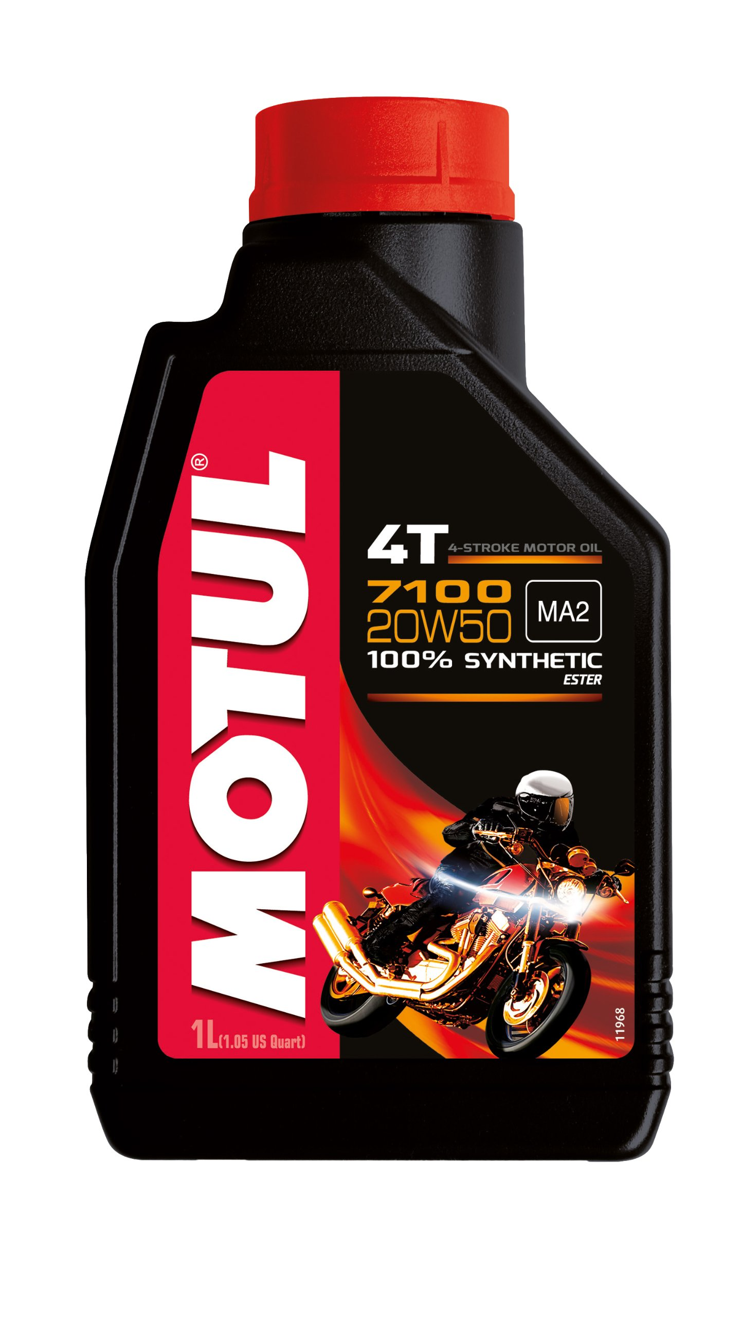Motul 104103 7100 4T Fully Synthetic Ester 20W-50 API SN Petrol Engine Oil for Bikes (1 L) product image