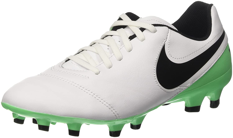 Nike Herren Tiempo Genio Ii Leather Fg Laufschuhe, Mehrfarbig  45.5 EU|Wei? (White/Black-electro Green)