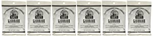 Claeys Candies Licorice - Old Fashioned Hard Candy - Artificially and Naturally Flavored - Fat-Free - 6 Ounce - 6-Pack