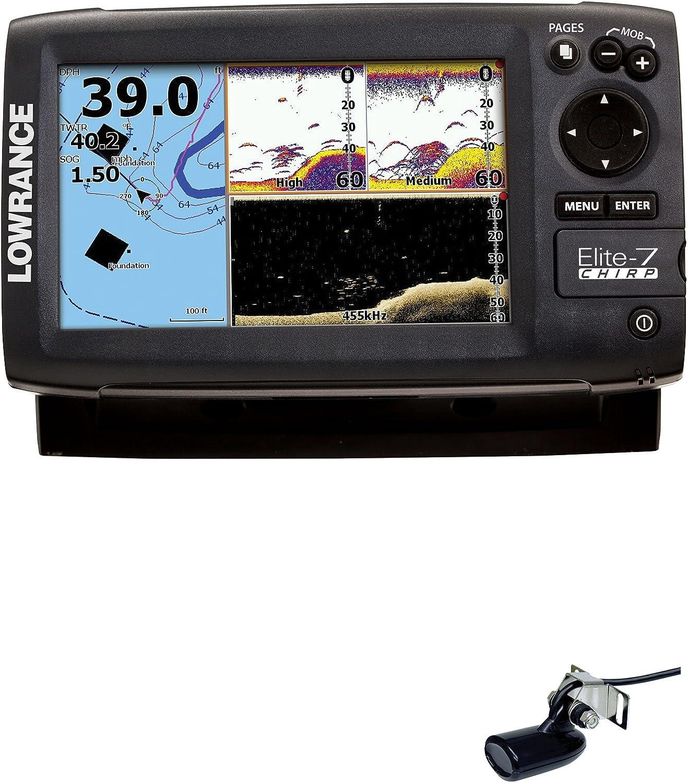 Lowrance Navigationsgerät Elite 7 Chirp CO SD W/XDCR 50/200 455/800 - GPS Marino, Talla Standard: Amazon.es: Deportes y aire libre