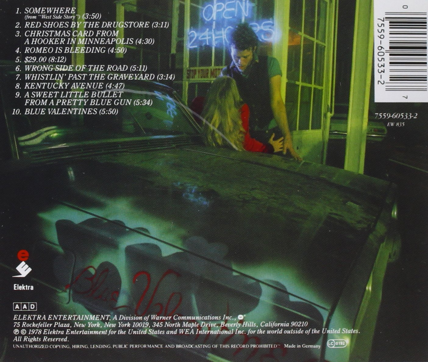 Tom Waits - Blue Valentine - Amazon.com Music