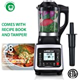 GoWISE USA Heating High-Speed Professional Blender 2.0 Horse Power, Baby Food Maker 1400W with 6 Blending Presets, 59-Ounce Glass Pitcher + 28 Recipes for your Blender Recipe Book, Premiere, GW22501