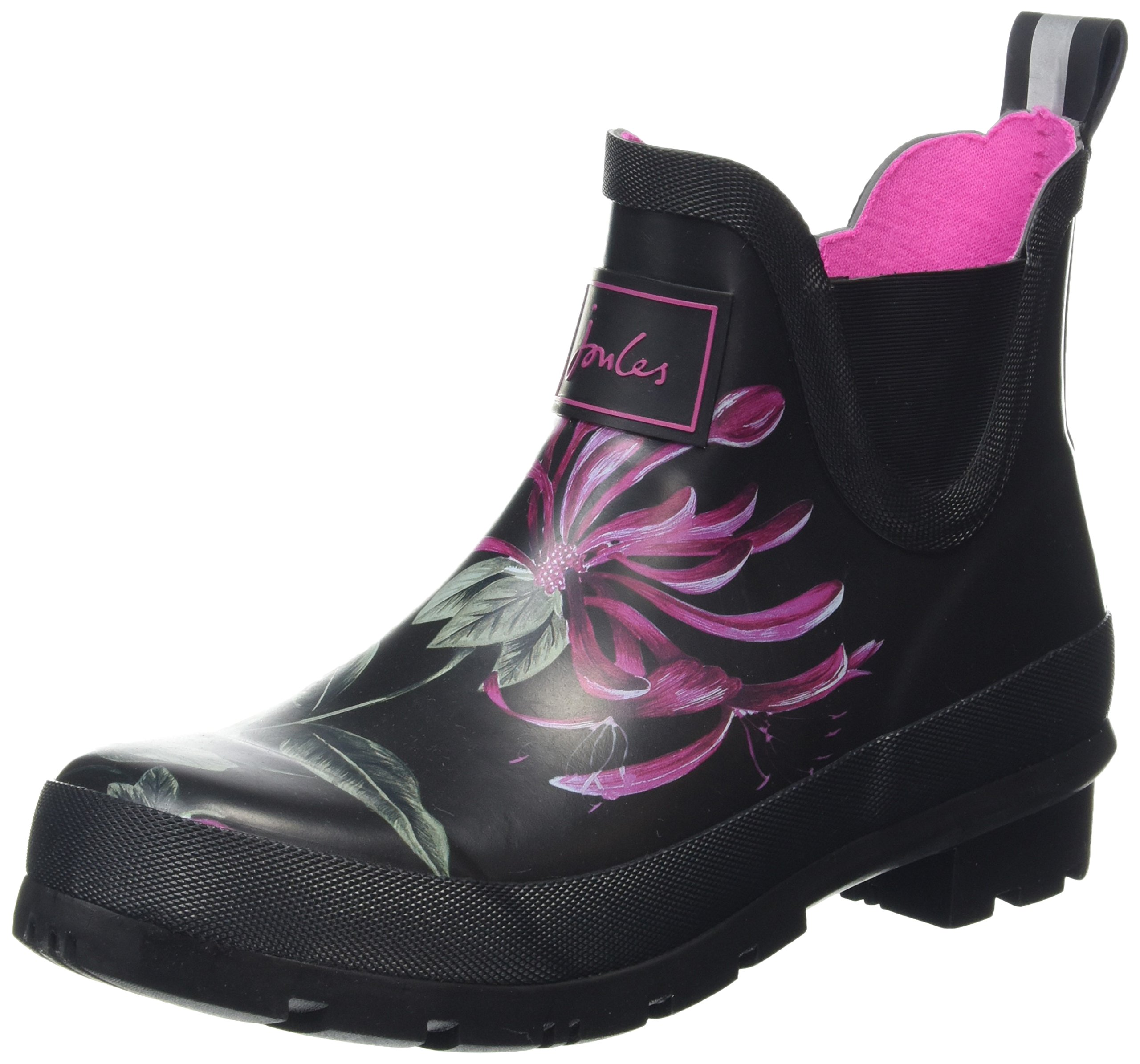 Joules Wellibob French Navy Posy Womens Rain Boots (5, Black Hedgerow)