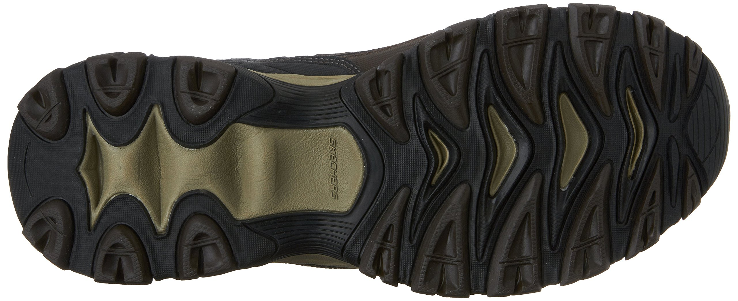 Skechers Men's AFTERBURNM.FIT Memory Foam Lace-Up Sneaker, Brown/Taupe, 7.5 M US by Skechers (Image #3)