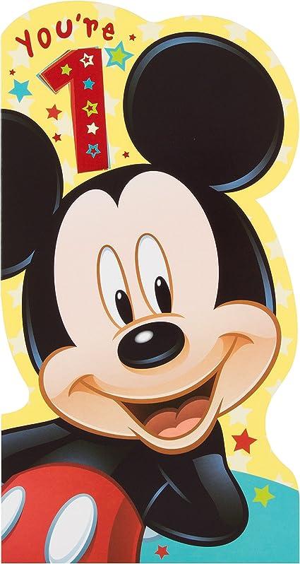 Hallmark Disney Carte D Anniversaire Mickey Mouse Mickey 1 An Amazon Fr Fournitures De Bureau