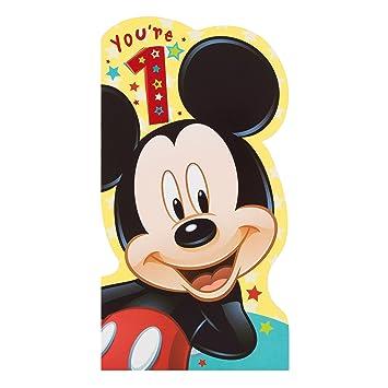 Carte Anniversaire Mickey.Hallmark Disney Carte D Anniversaire Mickey Mouse Mickey 1 An