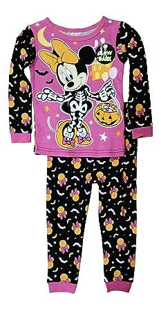 disney minnie mouse little girls toddler halloween pajama set 5t