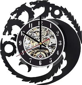 Game of Thrones Vinyl Clock, Game of Thrones Wall Clock, Game of Thrones Room Decor, Game of Thrones Record Clock, Game of Thrones LP, Game of Thrones Gifts, Targaryen Wall Art, GOT Fan Art