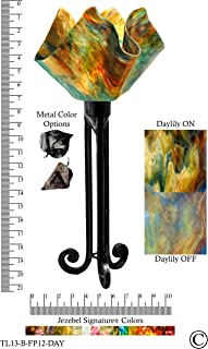 product image for Jezebel Signature Torch Light. Hardware: Black. Glass: Daylily, Flame Style