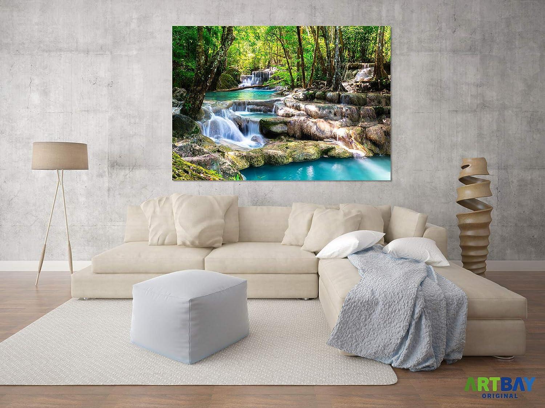ARTBAY Cascada Tropical en el Bosque - Póster XXL - 118,8 x 84 cm | Cascada mágica en un Bosque inundado por el Sol, Tailandia | Póster de Naturaleza: ...
