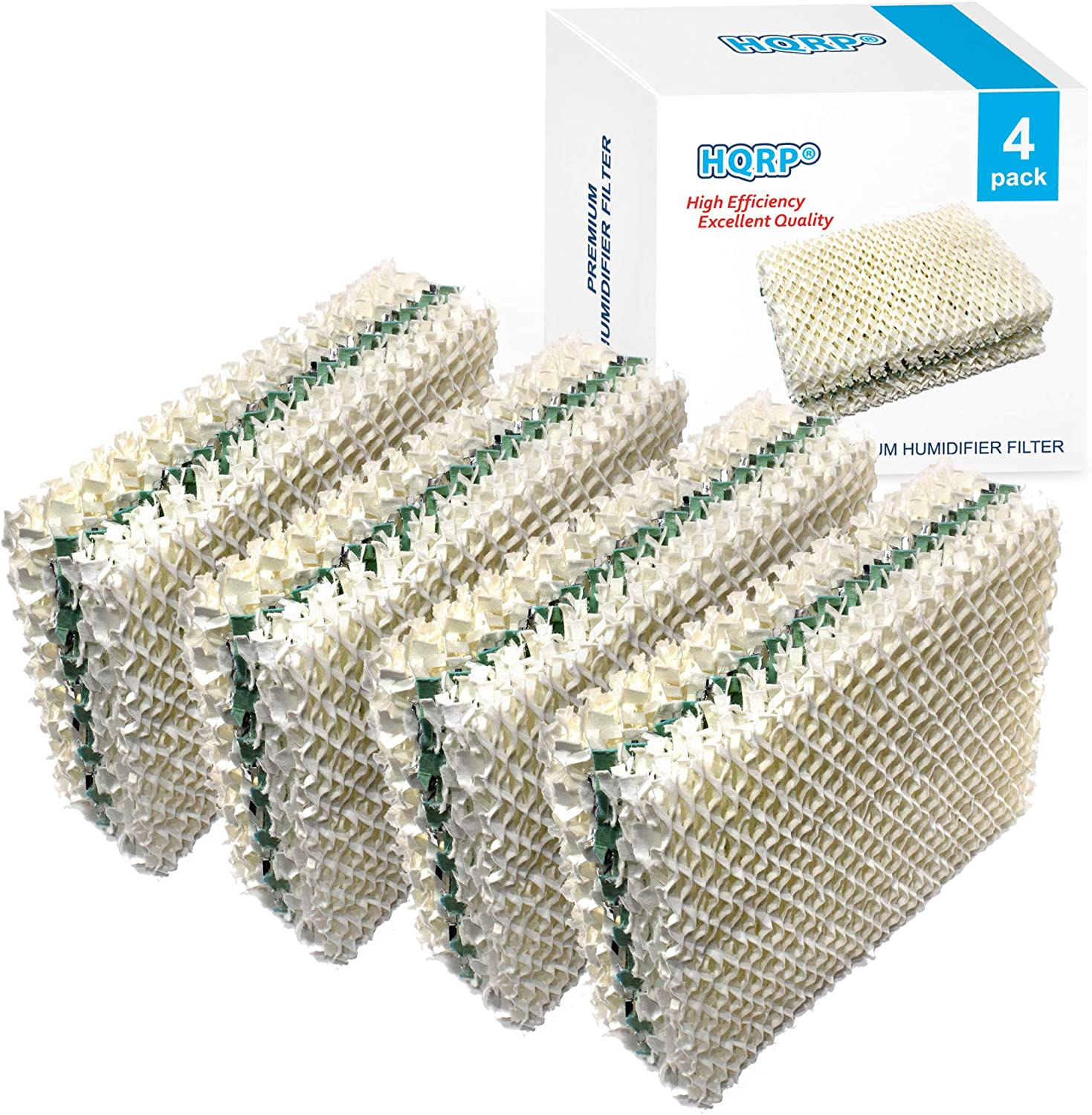 HQRP Wick Filter Compatible with Essick Air AIRCARE HDC12 / HDC-12 Replacement for EA1407 / HD1409 Evaporative Humidifier, 4-Pack