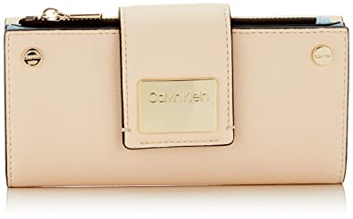 Amazon.com: Calvin Klein Ck Lock Lrg Trifold, Womens Clutch ...