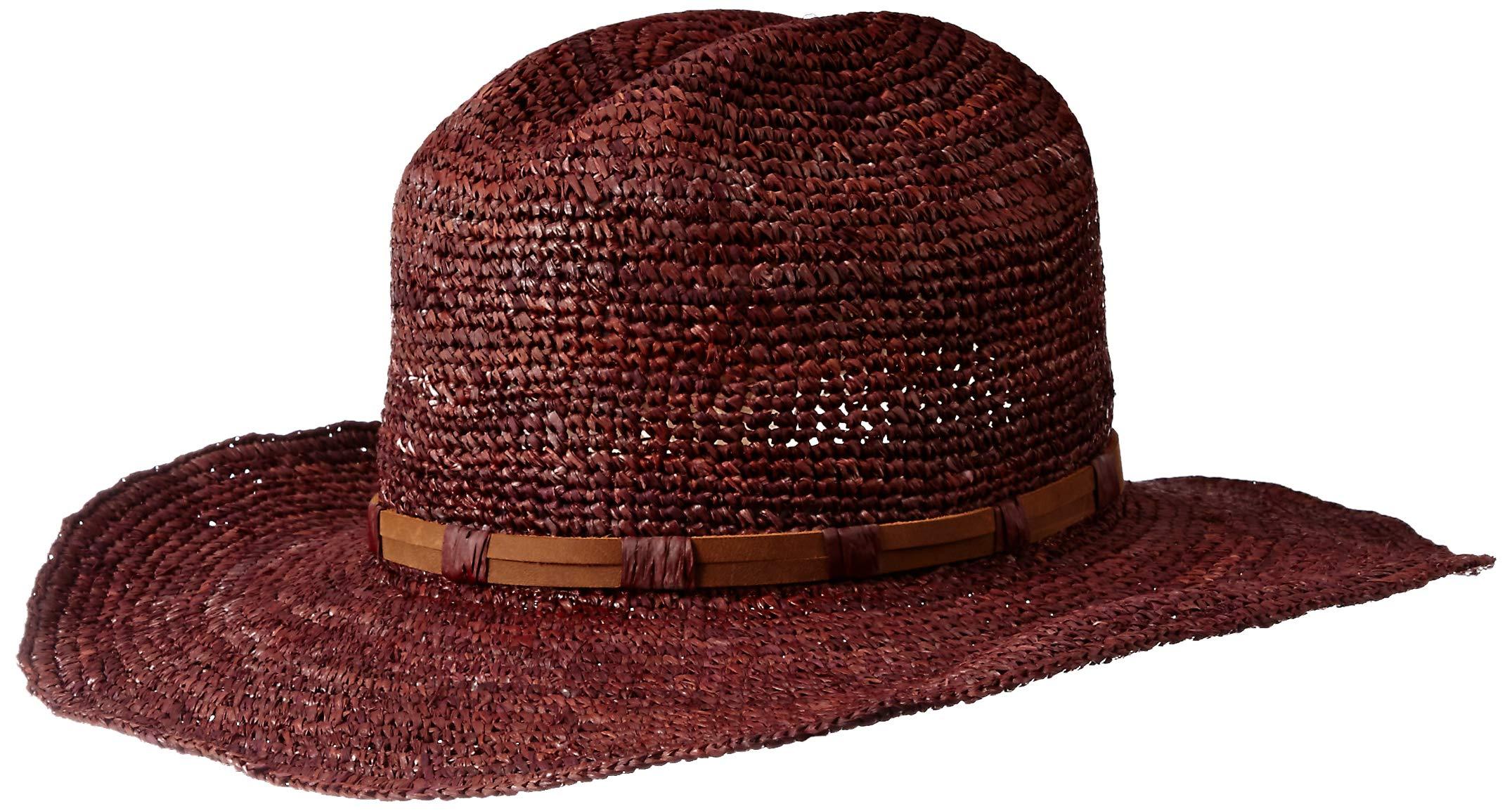 Frye Headwear Women's Frye Raffia Cowboy Dean, Umber, Medium/Large