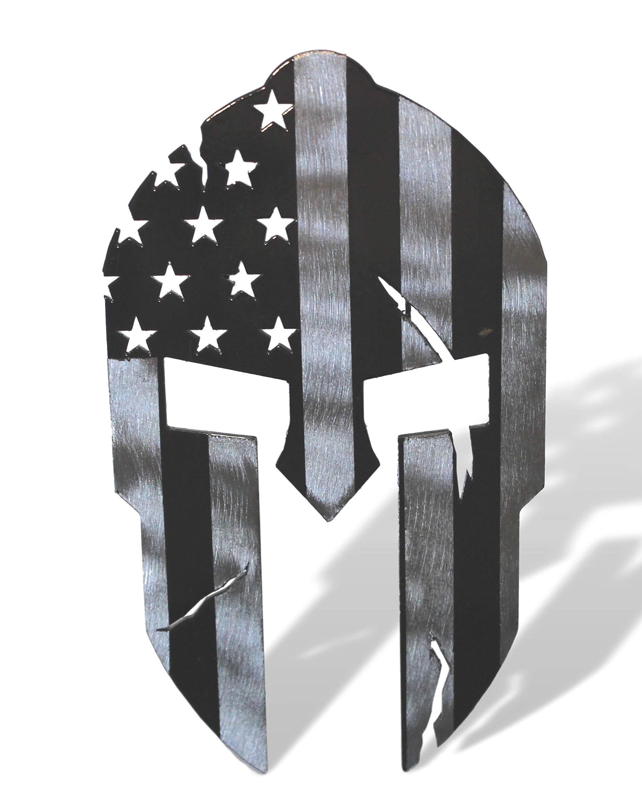 Fox MetalFab Hitch Cover/Receiver/Powder Coated Steel/USA US Subdued American Spartan Flag by Fox MetalFab