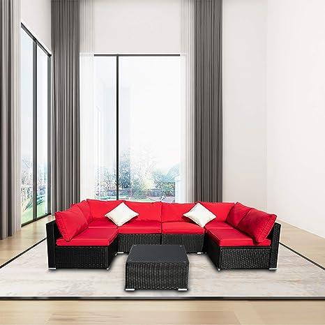 Amazon.com: Leisurelife - Juego de muebles de patio al aire ...