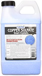Crystal Blue Copper Sulfate Algaecide - Aquatic Grade Granular Pond Algae Control - 5 lbs