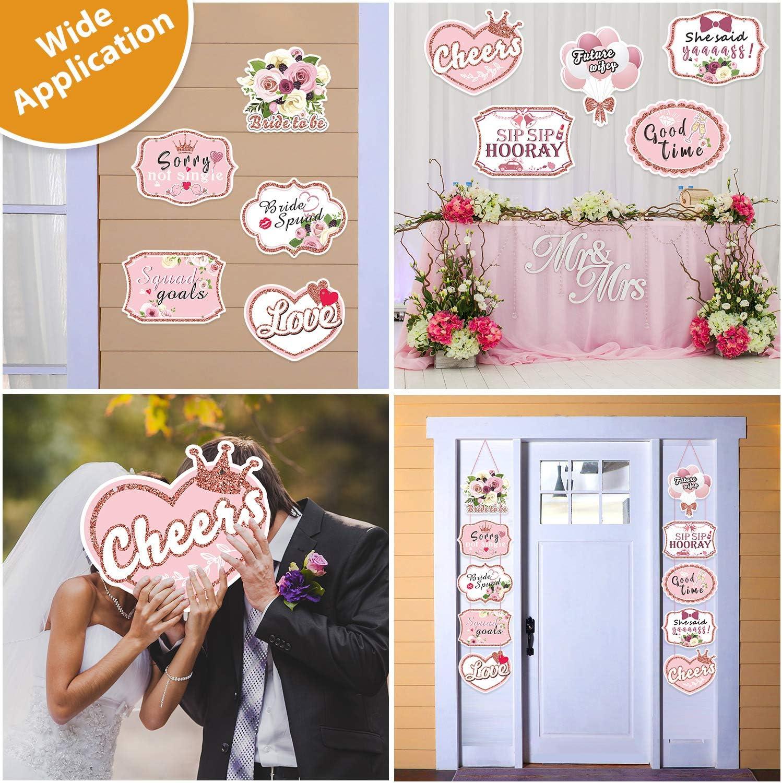 Unique Party Supplies 30,5/cm Perlglanzeffekt Latex wei/ß Just Married Hochzeit Luftballons 5/St/ück