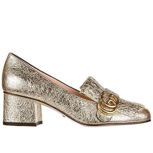 10b36615de3c Gucci women s leather pumps court shoes high heel galassia gg detail ...