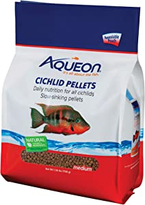 Aqueon Cichlid Food Medium Pellets, 25-Ounce