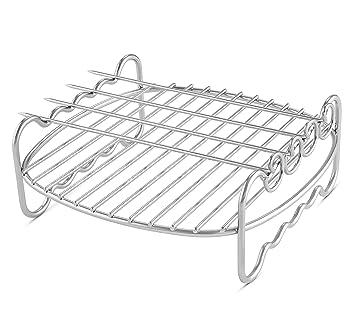 Rejilla de doble capa con pinchos para freidora, compatible ...