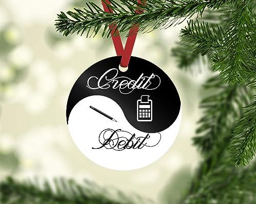 Christmas Accountant.Amazon Com Accountant Christmas Ornament 3 Diameter