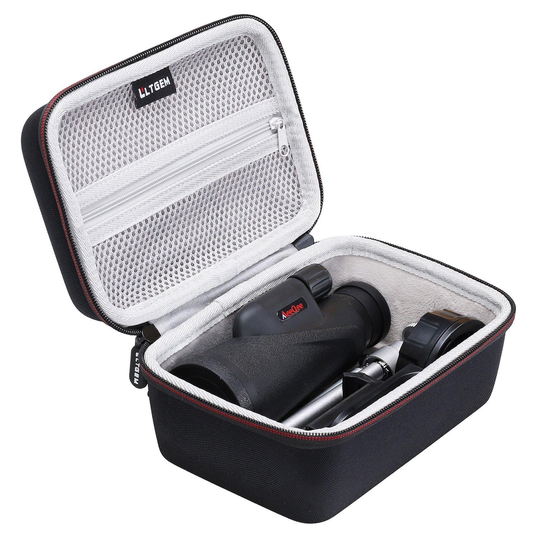 Monocular Telescope Case - LTGEM Hard Case for 12x50 HD Dual Focus Low Night Vision Waterproof High Power Spotting Scopes