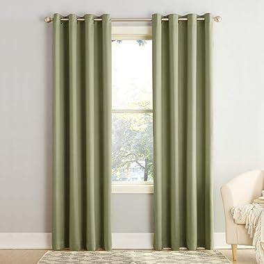 Sun Zero Barrow Energy Efficient Grommet Curtain Panel, 54  x 84 , Sage Green