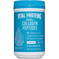 Vital Proteins Collagen Powder Hydrolyzed Peptides Supplement (Type I, III) for Skin Hair Nail Joint - Non-GMO Dairy/Gluten Free - Unflavored 10 oz