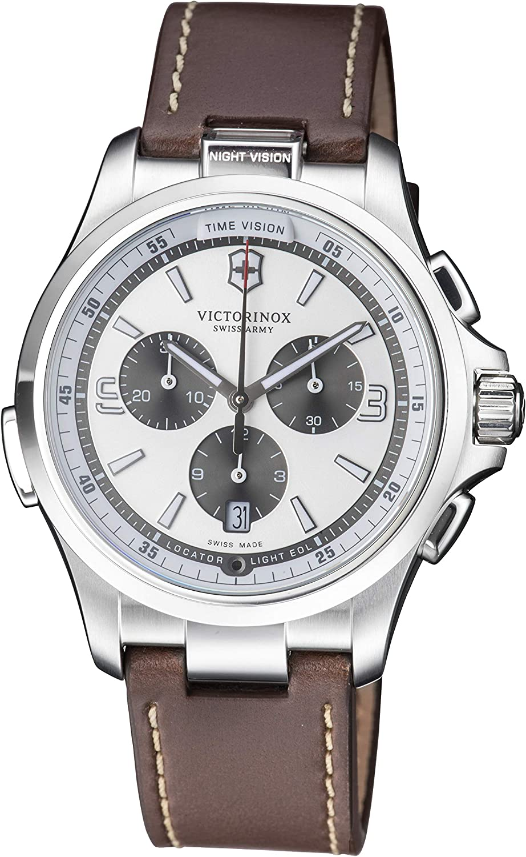 Victorinox Men's Night Vision Analog Display Swiss Quartz Watch