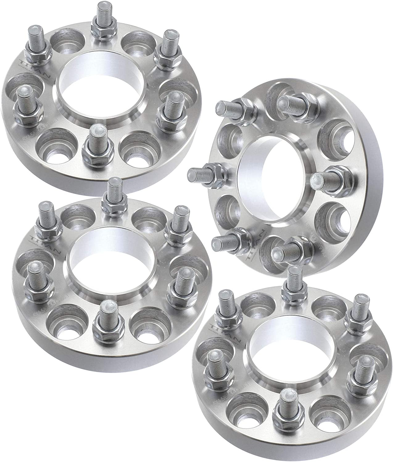 4 Pieces 1 25mm Hub Centric Wheel Spacers Bolt Pattern 6x5.5 6x139.7 Thread Pitch 14x1.5 Fits Chevy