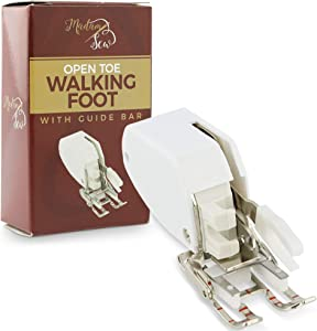 Madam Sew Open Toe Walking Foot for Quilting and Sewing – Stitch Through Multiple Layers and Match Prints with Ease – Compatible with Low-Shank Brother, Singer, Janome, Babylock and Others