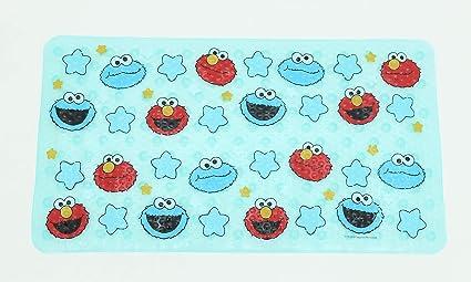 Ginsey Sesame Street Elmo Blue Bath Tub Mat - Kids Bath Mat