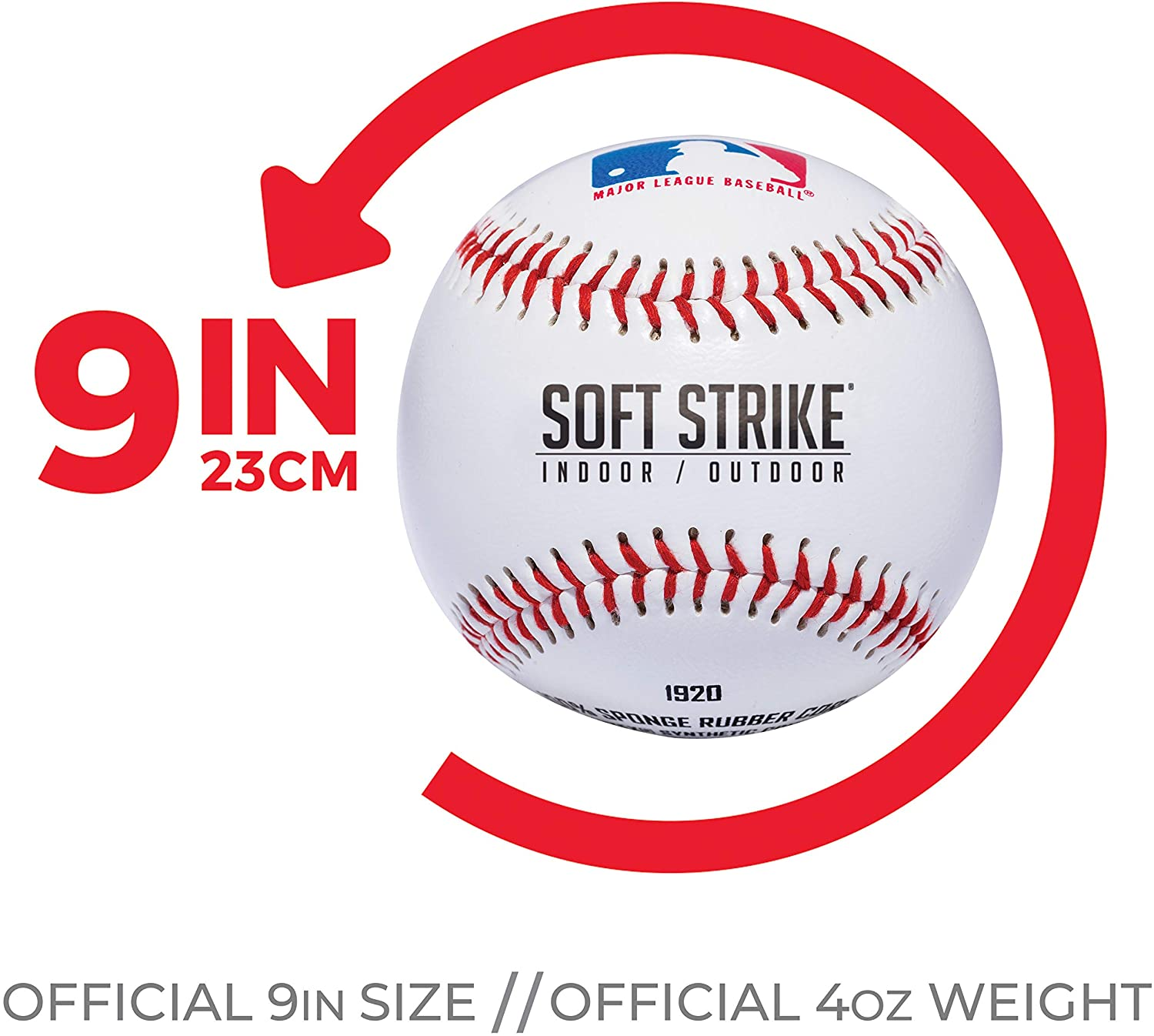 Franklin Sports Soft-Strike Teeball - Official Size and Weight Approved For Teeball - Hollow Rubber Core Technology For Safety - MLB Teeball Ball For Indoor/Outdoor Use - Pack of 6 : Sports & Outdoors