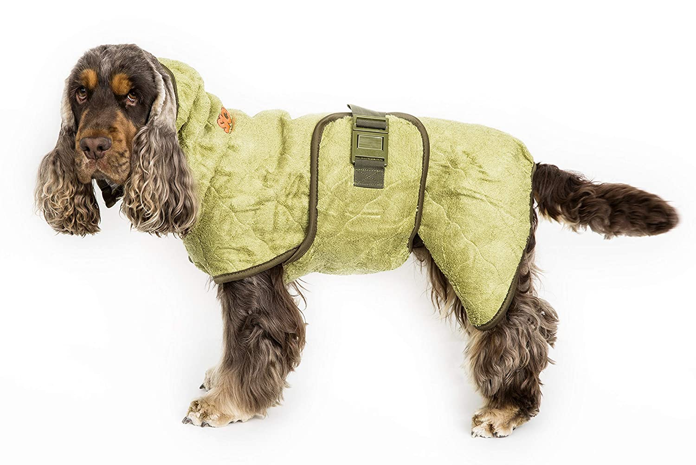 Classic Bamboo SSiccaro WetDog Supreme Pro Absorbent Dog Drying Coat Robe (Large, bluee Granite)