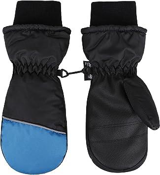 SimpliKids Boys Snow Insulation Waterproof Winter Ski Mittens,XS,Navy