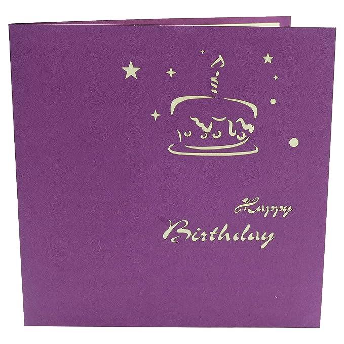 Tarjeta 3D - tarta de cumpleaños gigante - Tarjeta de ...