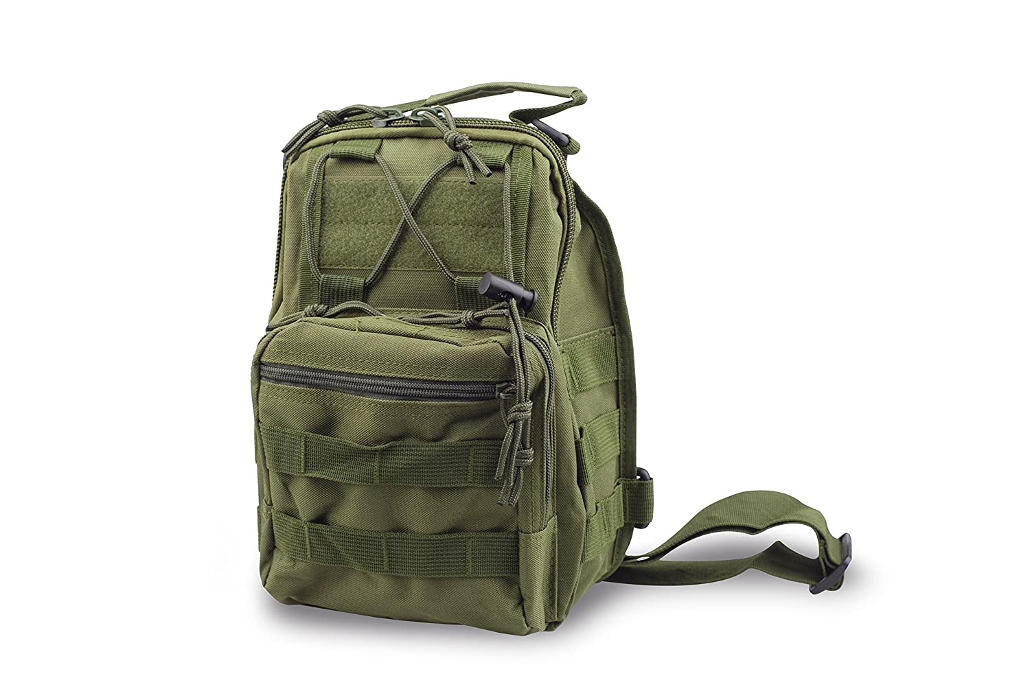 5053de4c8e Amazon.com : CISNO Outdoor Rucksack Tactical Molle Messenger Assault Sling  Shoulder Bag Backpack Pack (Army Green) : Sports & Outdoors