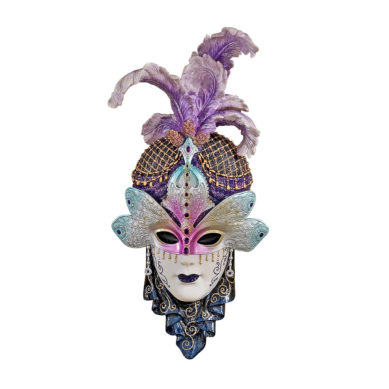 Design Toscano Die venezianische Maskerade, Skulpturale Wandmasken  Maiden del Cortina