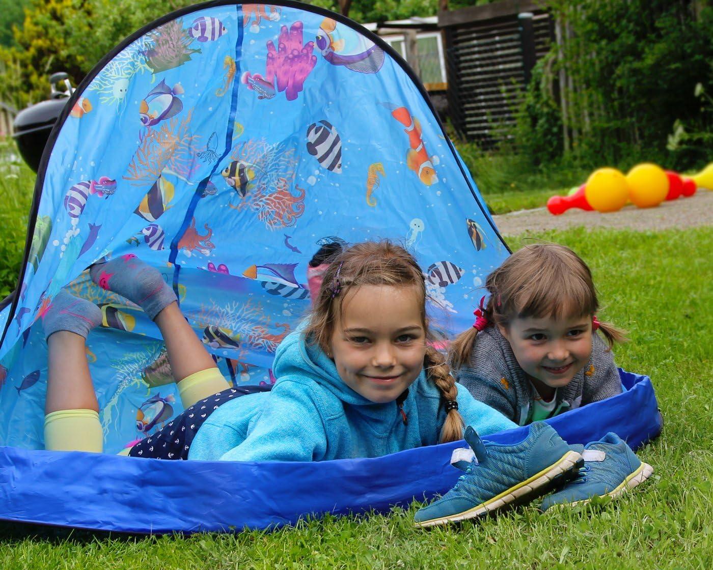 Ondis24 Strandmuschel Wurfzelt Spielzelt Kinderzelt Pop Up