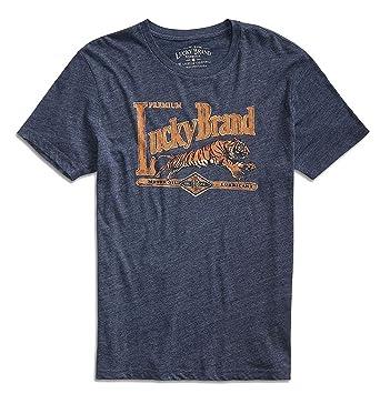 50d7860bd276 Lucky Brand - Men's - Tiger Moto Oil Tri-Blend Logo T-Shirt (Small ...
