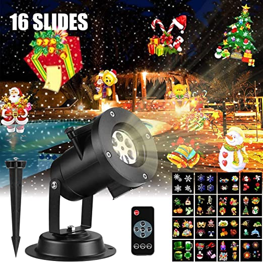 amigo-fly Luces Proyector, LED Luz de Proyección con 16 ...