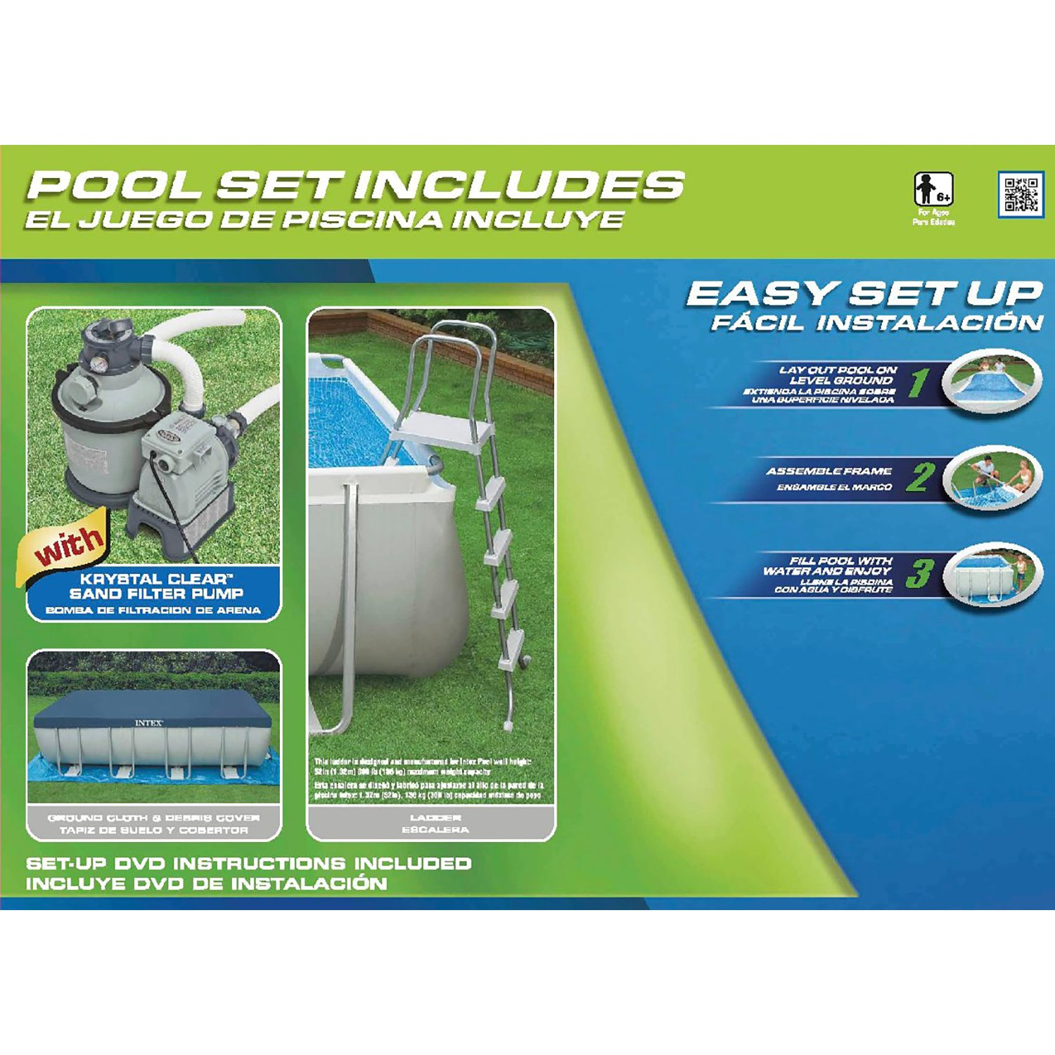 Amazon.com : Intex 18ft X 9ft X 52in Ultra Frame Rectangular Pool ...